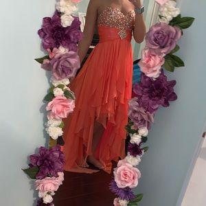 Size 4 Tiffany Designs Hi-Low Prom Dress